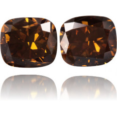 Natural Brown Diamond Rectangle 6.50 ct Set