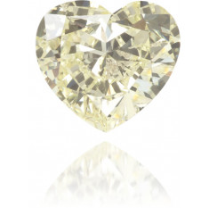 Natural Yellow Diamond Heart Shape 0.28 ct Polished