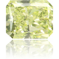 Natural Green Diamond Rectangle 0.14 ct Polished