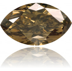 Natural Brown Diamond Marquise 1.53 ct Polished