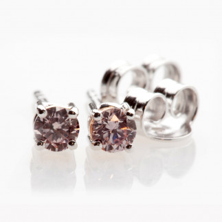 Light Pink Diamond Earrings