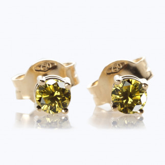 Bronze diamond stud earrings