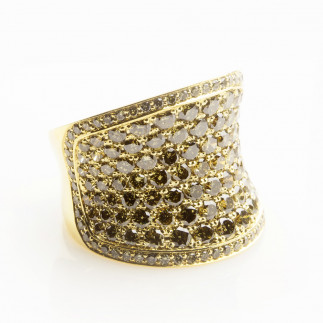 Olive Diamond Pavé Ring