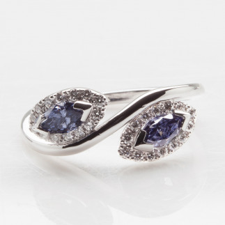 Indigo Marquise Cut Diamonds Ring