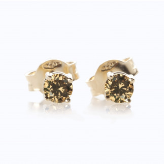 Chocolate Diamond Stud Earrings