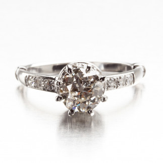Champagne Diamond Vintage Ring