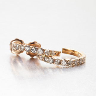White Diamond Creole Hoop Earrings