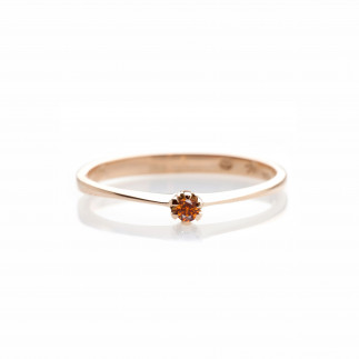 Cognac Diamond Delicate Ring