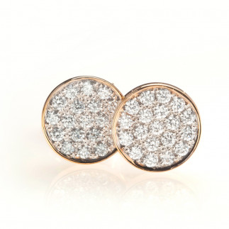 White Diamond Medallion Earrings