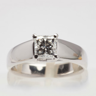 Princess Cut White Diamond Ring