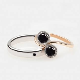 A Black Diamond Wedding Set