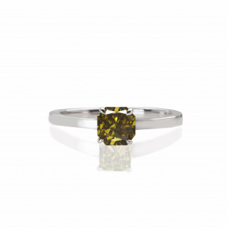 Olive Solitaire Ring