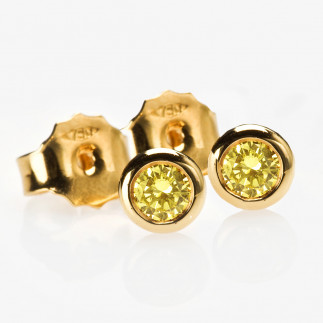 Intense Yellow Diamond Earrings