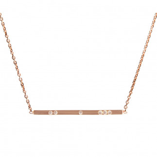 Champagne Diamond Bar Pendant