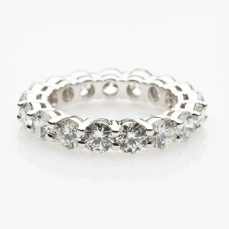 White Diamond Wedding Band