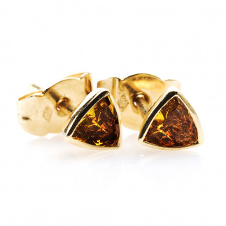Cognac Trillion Diamond Earrings