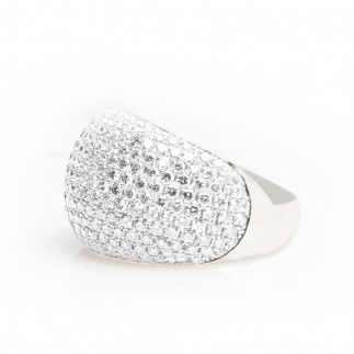 White Diamonds Pavé-Set Ring