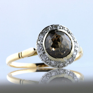 Vintage Chocolate Briolette Diamond Ring