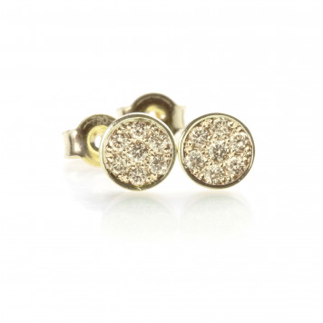 Vanilla Pavé Diamond Disc Earrings