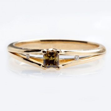 Olive Diamond Ring