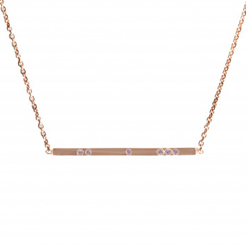 Baby Pink Diamond Bar Pendant