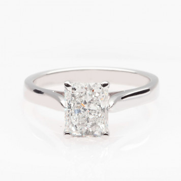 White Princess Cut Diamond Ring