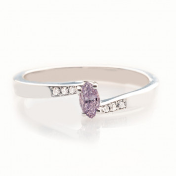 Lavender Purple Diamond Ring