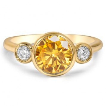 Saffron Three-stone ring