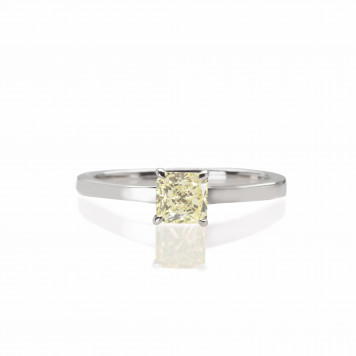 Yellow Solitaire Ring