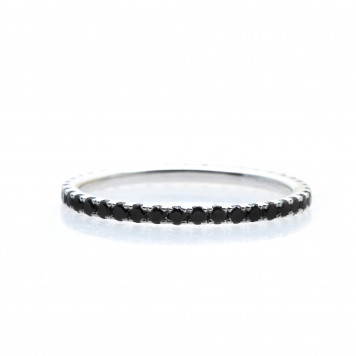 Black Diamonds Eternity Ring
