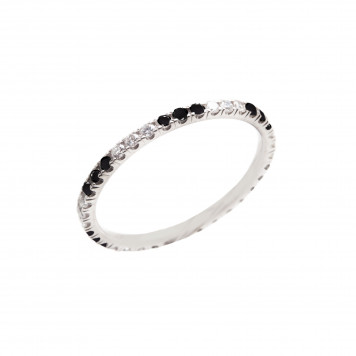 Black and White Diamonds Eternity Ring