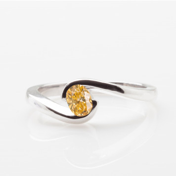 Orange Oval Tension Ring