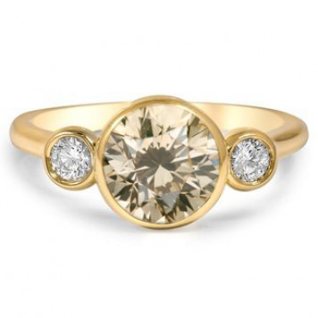 Champagne Three-stone ring