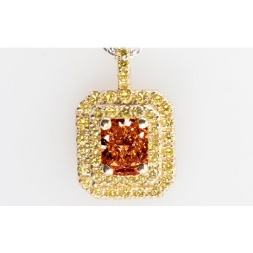Cognac Diamond Pendant