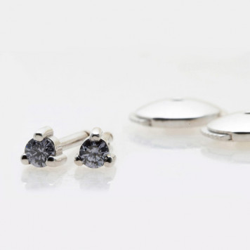 Deep Blue Diamonds Earrings