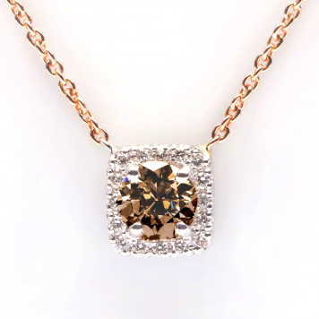 Chocolate Diamond Gold Pendant
