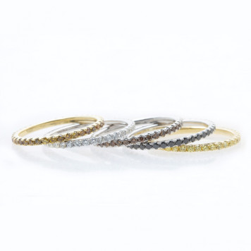 Eternity Rings with Natural Colored Diamonds