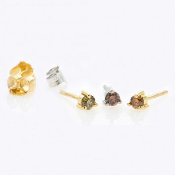 Men Natural Colored Diamonds Earrings