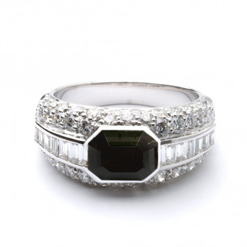 Men's Black Diamond Engagement Ring