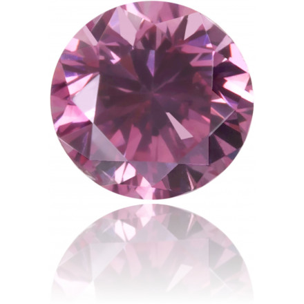 Natural Pink Diamond Round 0.12 ct Polished