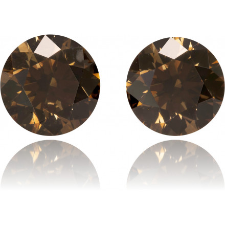 Natural Brown Diamond Round 1.28 ct Set