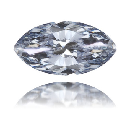 Natural Blue Diamond Marquise 0.12 ct Polished