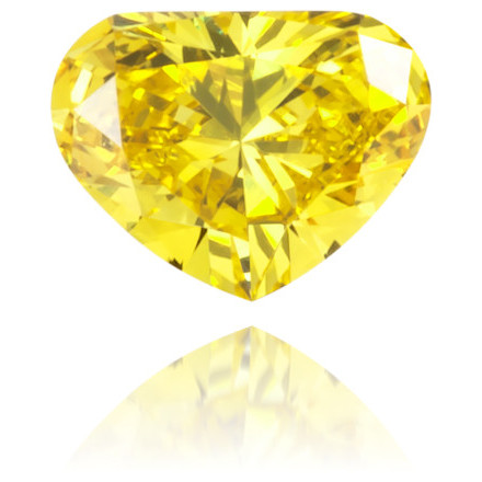 Natural Yellow Diamond Heart Shape 0.09 ct Polished
