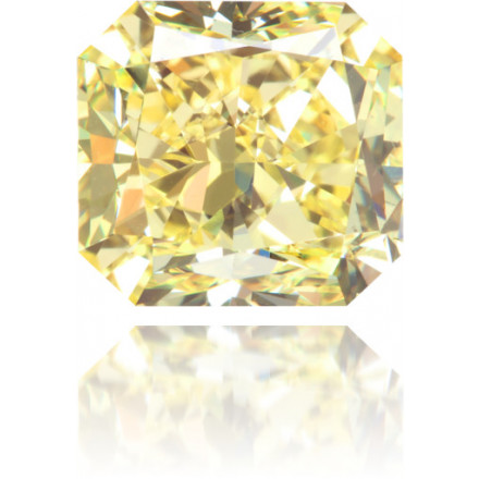 Natural Yellow Diamond Square 3.07 ct Polished