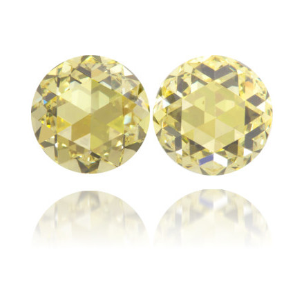 Natural Yellow Diamond Round 0.99 ct Set