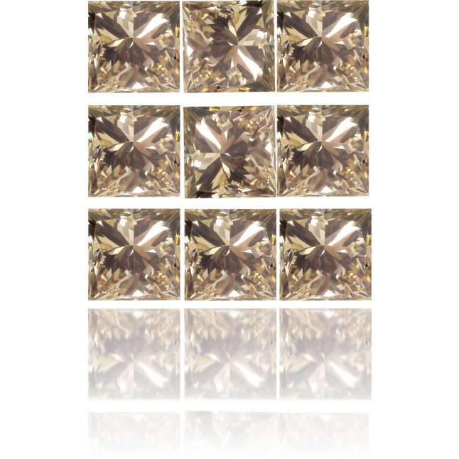 Natural Brown Diamond Square 1.87 ct Set