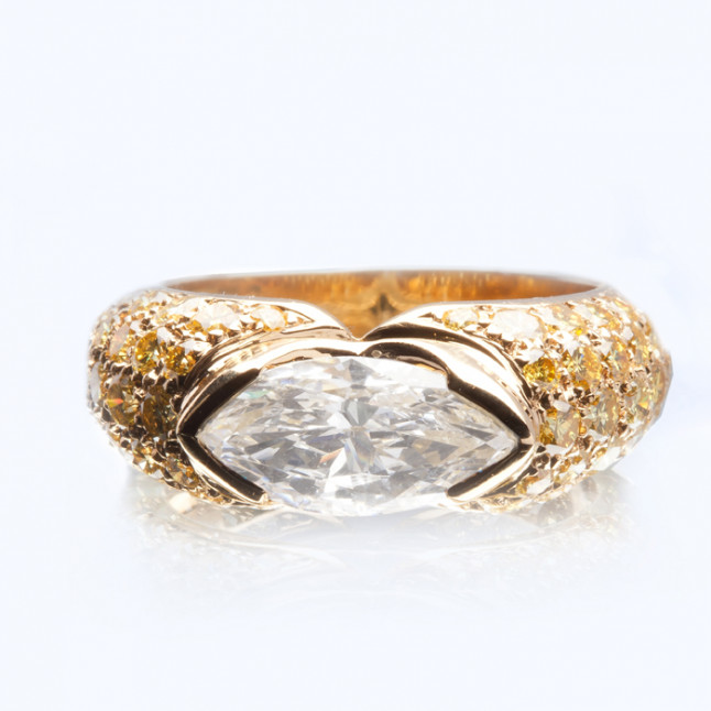 Marquise White Diamond Ring