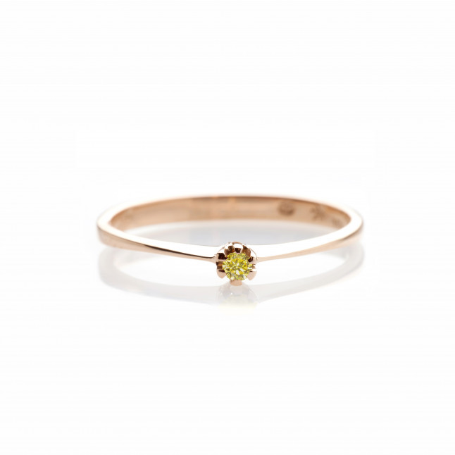 Canary Diamond Delicate Ring