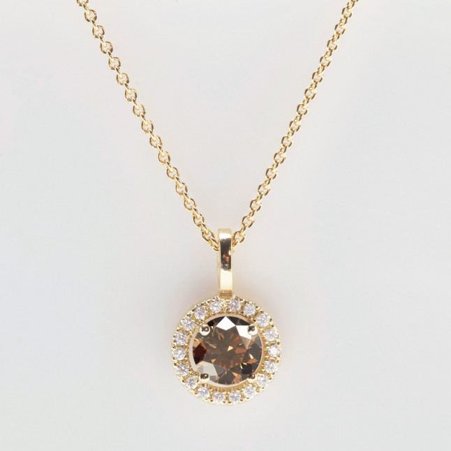 Modern Chocolate Diamond Pendant