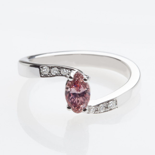 Marquise Cut Pink Diamond Ring
